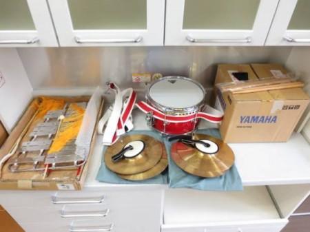 マーチング楽器3点セット リラグロッケンRG-21・ドラムMS-110B・シンバル