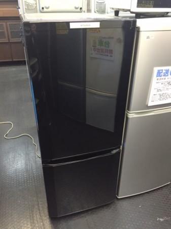 三菱 単身用2ドア冷蔵庫 146L ブラック MR-P15W
