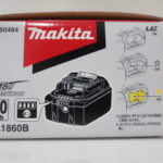 未使用 マキタ リチウムイオンバッテリー BL1860B