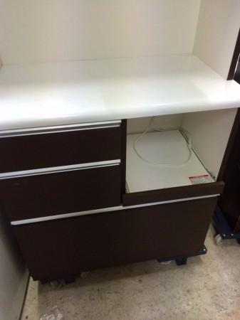 ニトリ 食器棚 レンジボードタイプ「ベリーズ」