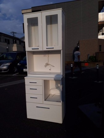 ニトリ キッチンボード (レンジボード) 幅 75cm×奥行 42cm×高さ 210cm