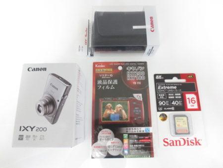未使用 キャノン デジタルカメラ IXY 200 おまけ付