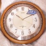 未使用 シチズン 電波式掛け時計 アイスタイルM680